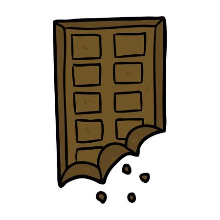 cartoon bar of chocolate Illusztráció