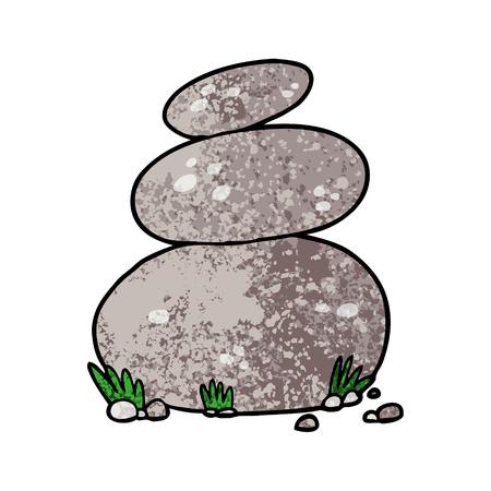 漫画大きな積み重ねられた石