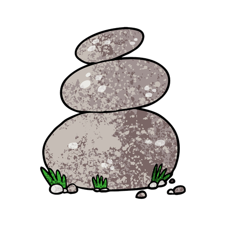 cartoon grote gestapelde stenen