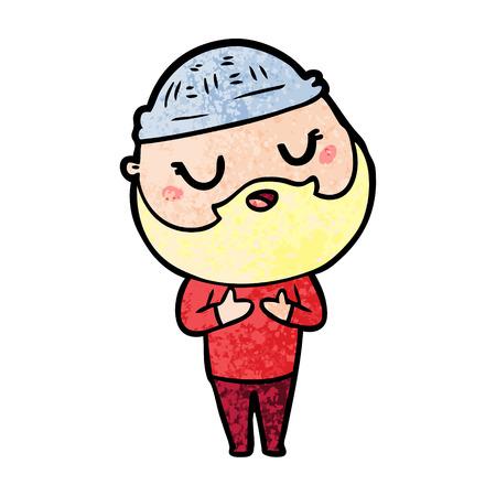 Homem dos desenhos animados com barba Foto de archivo - 94695484