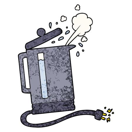 漫画電気ケトル沸騰