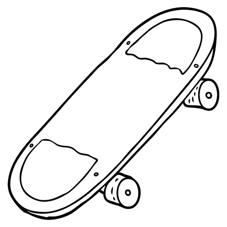 cartoon skateboard 向量圖像
