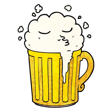 cartoon mug of beer 向量圖像