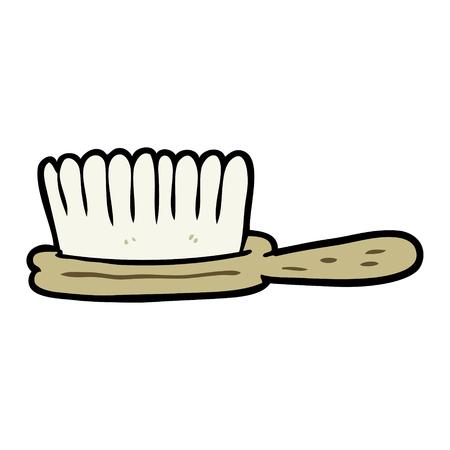 cartoon hairbrush
