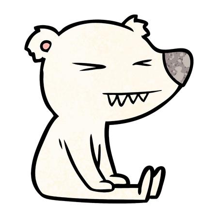 angry polar bear cartoon Illustration