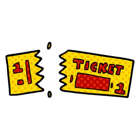 cartoon ticket icon