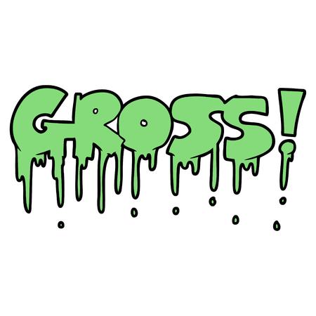 Cartoon gross symbol Ilustrace