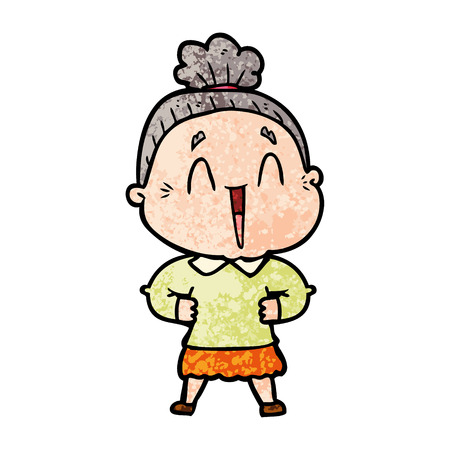 cartoon happy old lady Stock fotó - 94707245