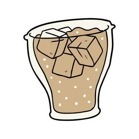 氷とコーラの漫画のガラス