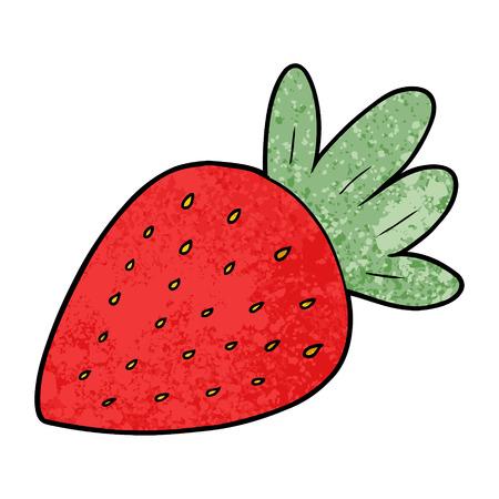 Cartoon strawberry Иллюстрация