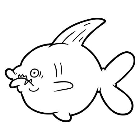 Cartoon ugly fish