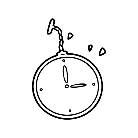 漫画の懐中時計  イラスト・ベクター素材