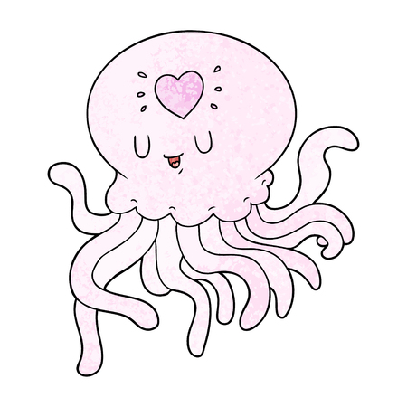 cartoon jellyfish in love