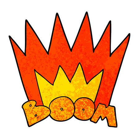 cartoon boom sign 矢量图像