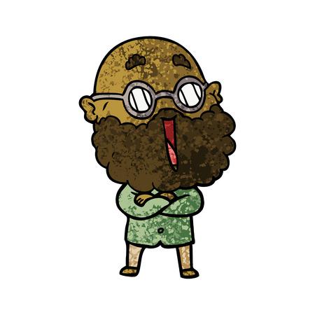 Homme joyeux avec barbe Banque d'images - 94703941
