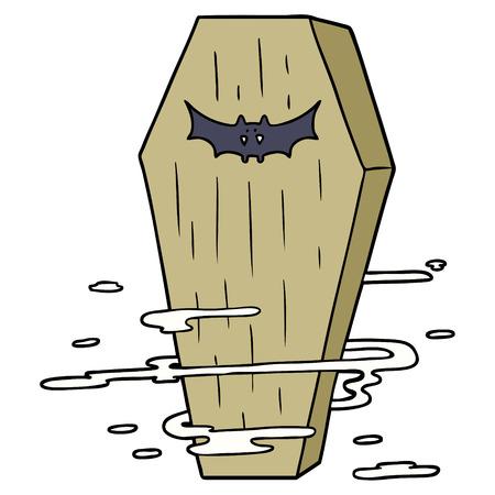 Cartoon griezelige doodskist Stock Illustratie