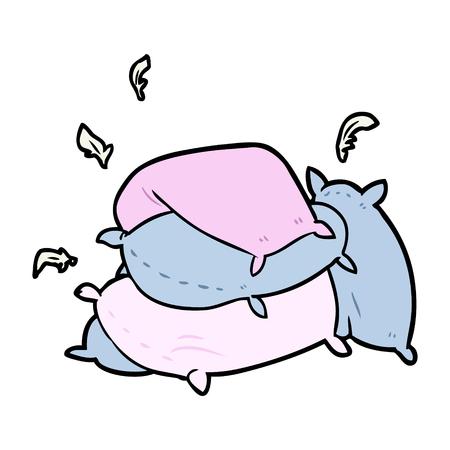 枕の漫画の山