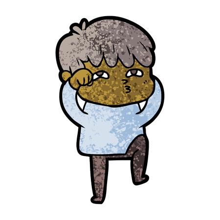 Uomo curioso dei cartoni animati Archivio Fotografico - 94704077