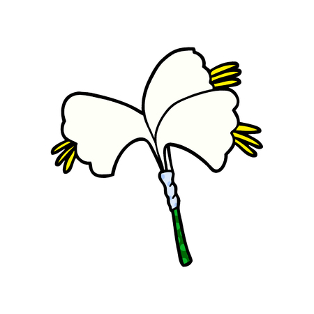 cartoon lillies 向量圖像
