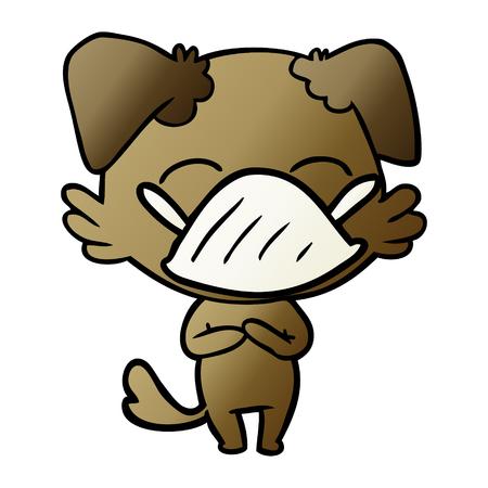 Cartoon dog with medical mask