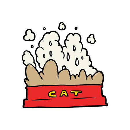 cartoon bowl of cat food Stock Vector - 94704103