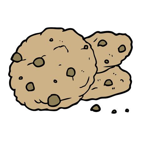 cartoon cookies Vector illustration.