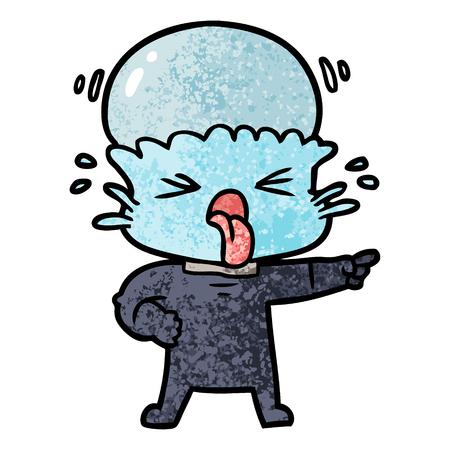 Alieno disgustato del fumetto Archivio Fotografico - 94689015