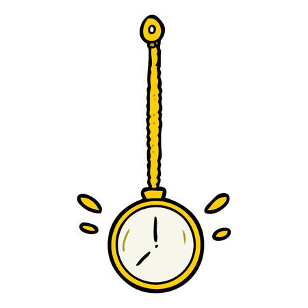 cartoon swinging gold hypnotist watch