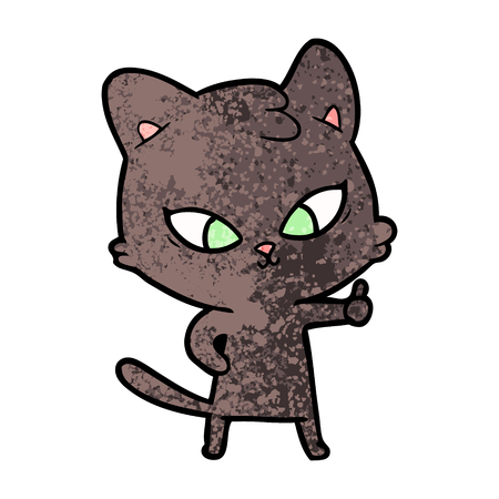 cute cartoon cat Stock Vector - 94690589