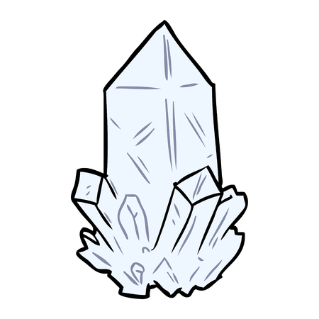 cartoon quartz crystal
