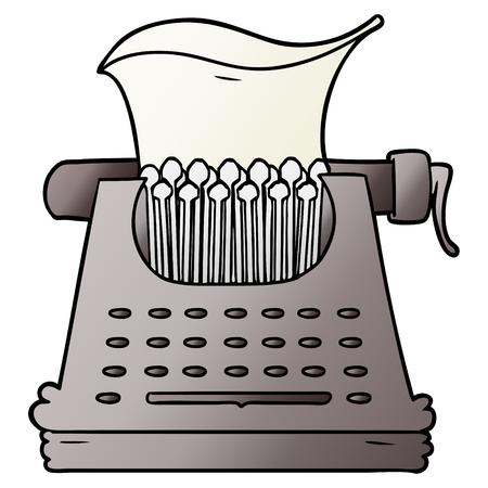 cartoon typemachine Stock Illustratie