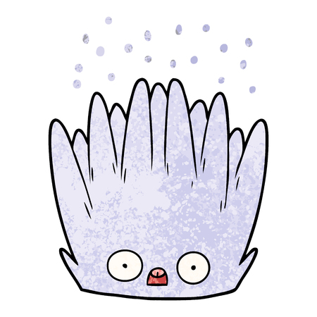 cartoon sea anemone Ilustracja