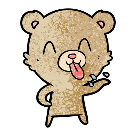 rude cartoon bear Illustration
