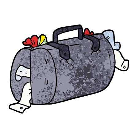 漫画の荷物  イラスト・ベクター素材