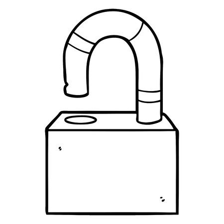cartoon padlock
