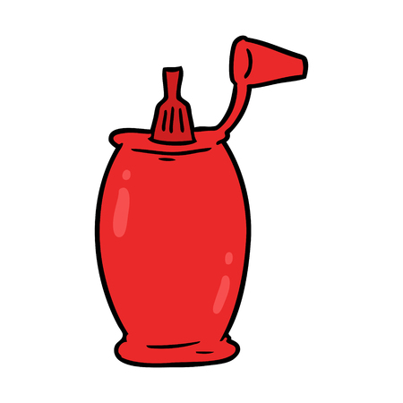 cartoon tomato ketchup bottle