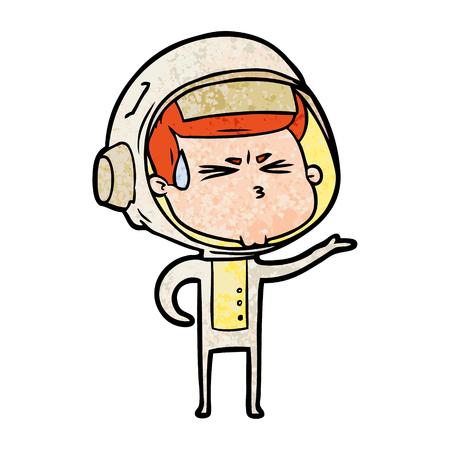 Astronauta stressato cartone animato Archivio Fotografico - 94705842