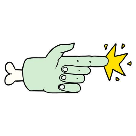 Apontador de mão de zumbi dos desenhos animados Foto de archivo - 94690401