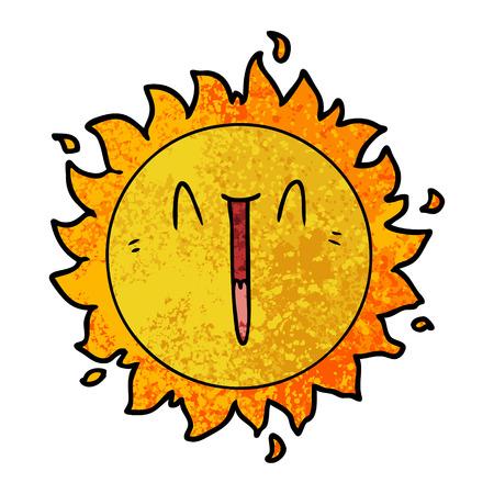 Soleil de dessin animé heureux Banque d'images - 94692147