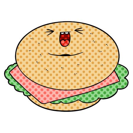 cartoon bagel