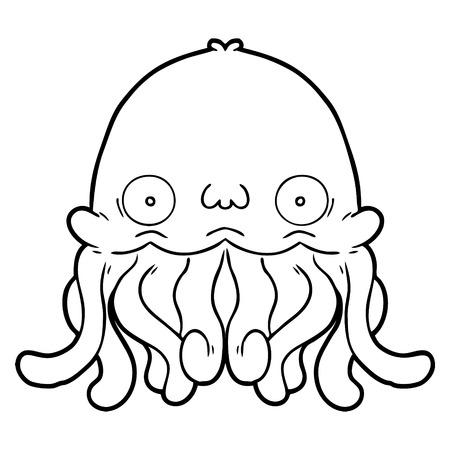 cartoon squid vector illustration.