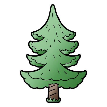 cartoon tree vector illustration.