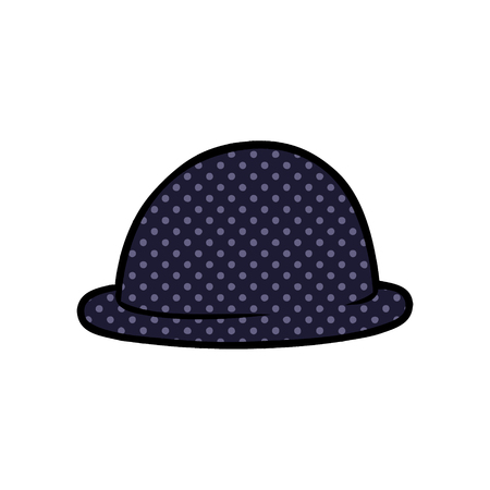 cartoon bowler hat vector illustration. Ilustracja