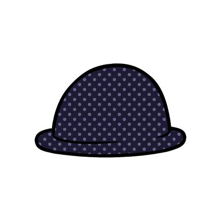 cartoon bowler hat vector illustration. Illustration