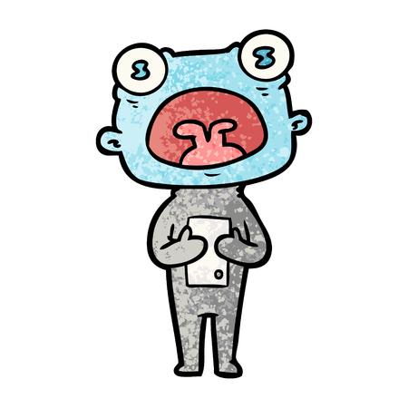 Estrangeiro estranho dos desenhos animados que comunica-se Foto de archivo - 94692386