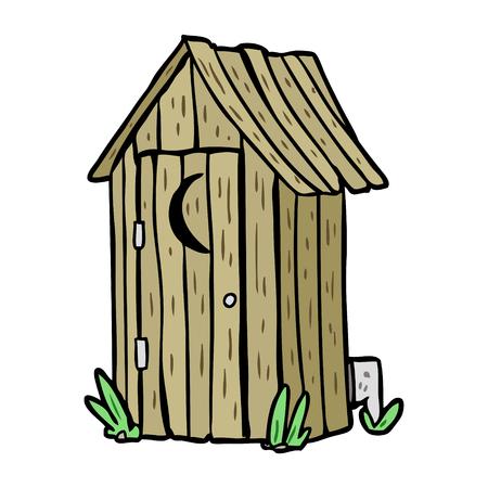 Cartoon traditionelle Außenwerbung mit Halbmond Fenster Standard-Bild - 94692513