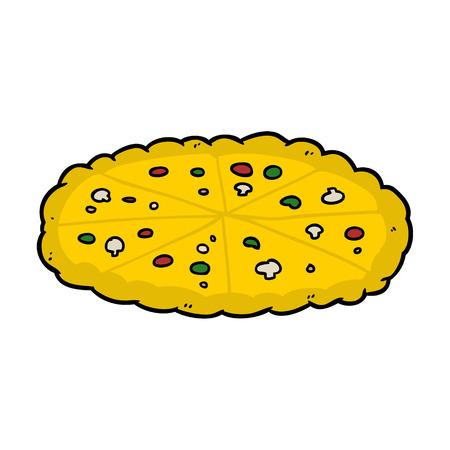 cartoon double cheese pizza Ilustrace