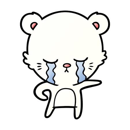 Illustration vectorielle de chat blanc dessin animé. Banque d'images - 94692526