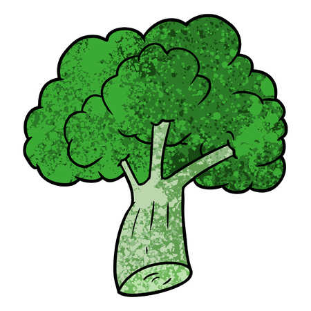 cartoon broccoli vector illustration.