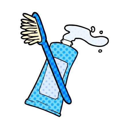 チューブ内の漫画のクリーム